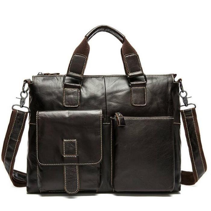 52839716d8 2016 Hommes messenger sacs en cuir véritable sac hommes mallette de mode designer  sacs à main de haute qualité célèbre marque hom.