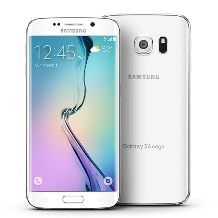 smartphone samsung galaxy s6 edge blanc achat smartphone. Black Bedroom Furniture Sets. Home Design Ideas