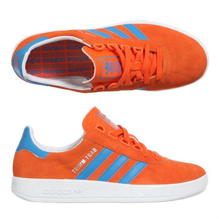 d5cabd992c4a BASKET ADIDAS Baskets Trimm Trab Homme. Modèle Trimm Trab. Coloris   orange  et bleu.
