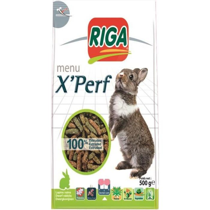 GRAINES RIGA - X'PERF LAPINS NAINS STAND UP - 500 G