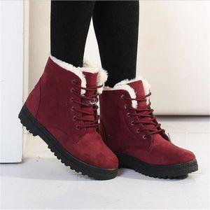 Bottine Femme hiver Classique peluche boots BBJ-XZ003Rouge-37 AeAo9pDtTr