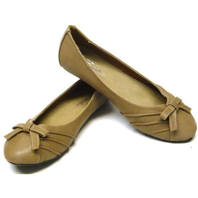 femmes chaussures ballerines avec boucle kaki 37