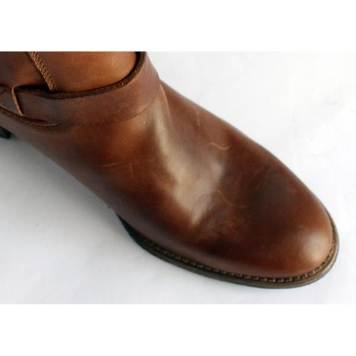 CHAUSSURES FEMME 100% CUIR BROWNT 37