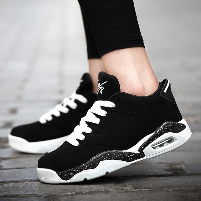 Basket Hommes et femmes Coussin d'air Chaussures de course Respirant -Noir