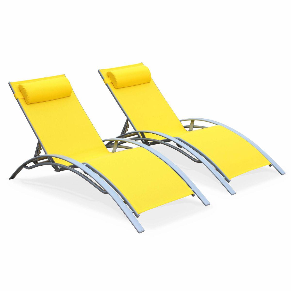 Soleil En Duo Et Bains Aluminium Textilène Louisa 2 De Lounge gb6yYf7v