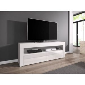 meuble tv bas achat vente meuble tv bas pas cher cdiscount. Black Bedroom Furniture Sets. Home Design Ideas