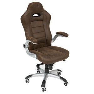 Chaise assise large avec accoudoirs achat vente pas cher - Chaise de bureau avec accoudoir ...