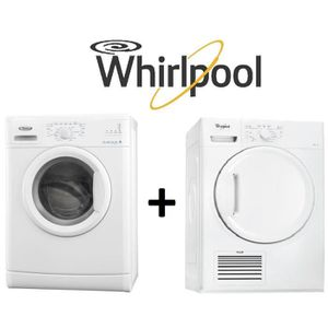 Pack Lavage Séchage Whirlpool Awod7231 Lave Linge A
