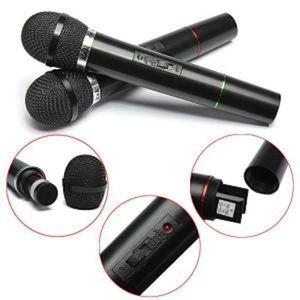 MICROPHONE lot de 2 PRO Microphone Sans Fil Micro FM pour Cha