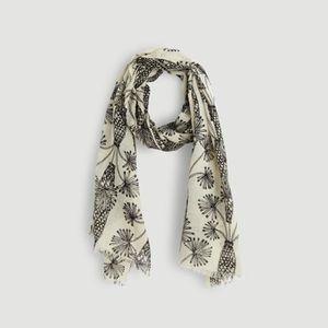 Etole en laine motif palmiers NOIR - Achat   Vente echarpe - foulard ... daf7d2b9d70