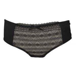 ENSEMBLE DE LINGERIE Shorty noir lingerie sexy femme aspect lycra et mo