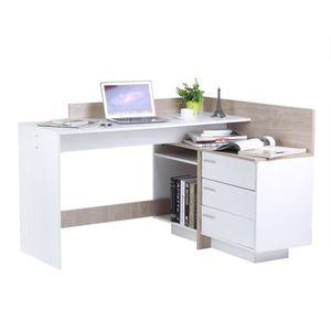 MEUBLE INFORMATIQUE Bureau de travaille Table d'angle assemblé contemp