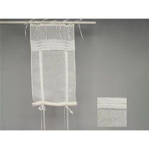 rideau blanc 45 cm largeur achat vente rideau blanc 45 cm largeur pas cher cdiscount. Black Bedroom Furniture Sets. Home Design Ideas
