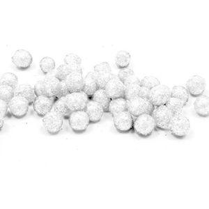 Décors de table Boule pailletée blanche, 0.8cm (x10grs) REF/ADT027