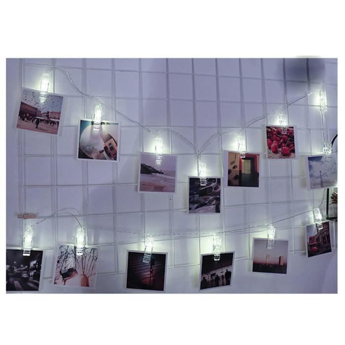 10 Led Lampe 5m Photo Hanging Décor Clips Chaîne Image Intérieur Pegs 1 Sut1631 Carte 5xZwq5v