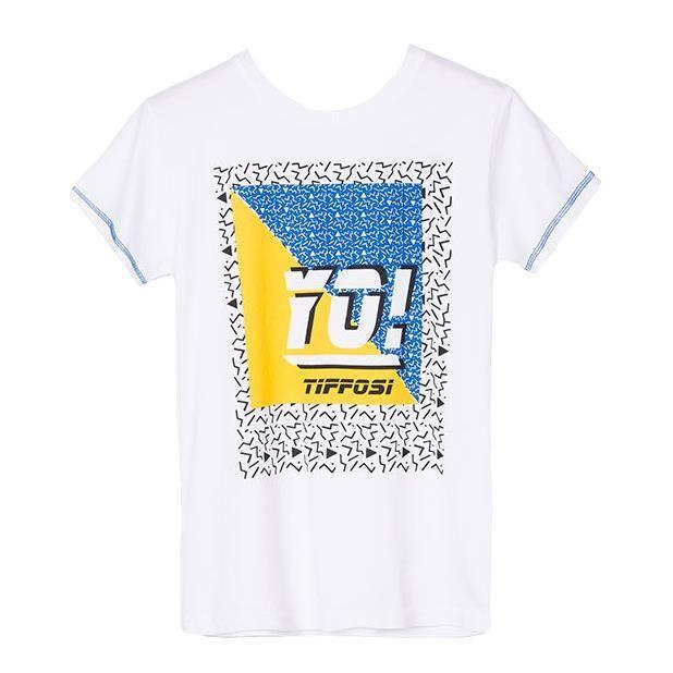 3b52ab7f6fa78 Tee-shirt TIFFOSI blanc - pour enfant garçon - manches courtes - logo