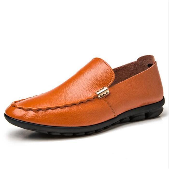 Moccasin homme en cuirDe Marque De Luxe Qualité Supérieure 2017 nouvelle marque de luxe chaussure Super Durable Confortable