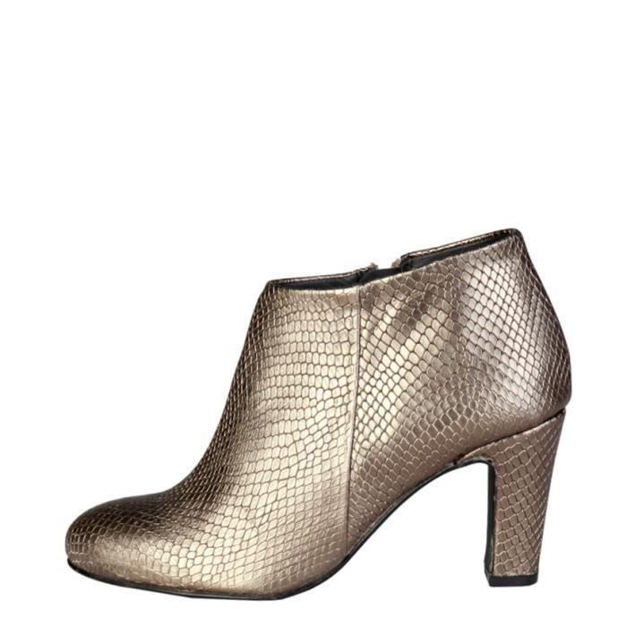 Pierre Cardin - 7226211 bottes en cuir or talon -Hauteur: 8cm