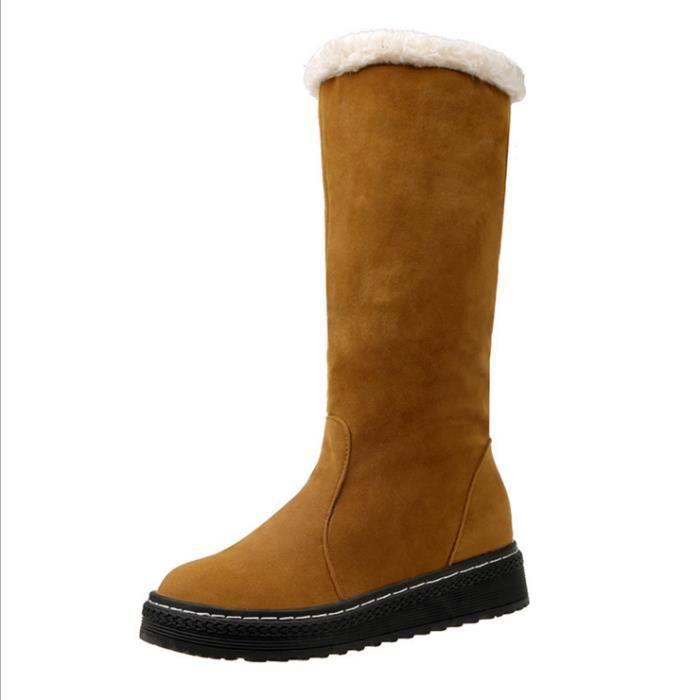 Femmes neige bottes de traîneau chaussures de velours avec caoutchouc de fourrure 7r8NFkh