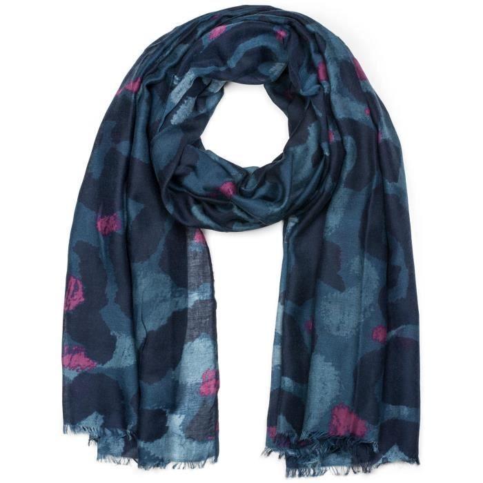 978bf45cc386 StyleBREAKER Châle pour femme avec grand motif léopard et franges ...
