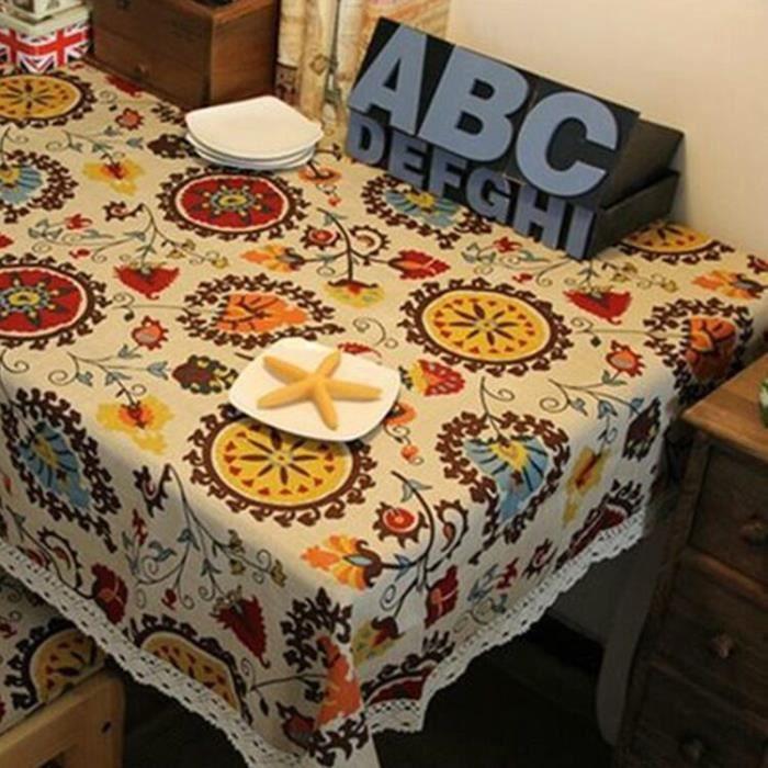 140cm 140cm nappes en tissu nappe en lin de table th de m nages multi usages couverture de. Black Bedroom Furniture Sets. Home Design Ideas