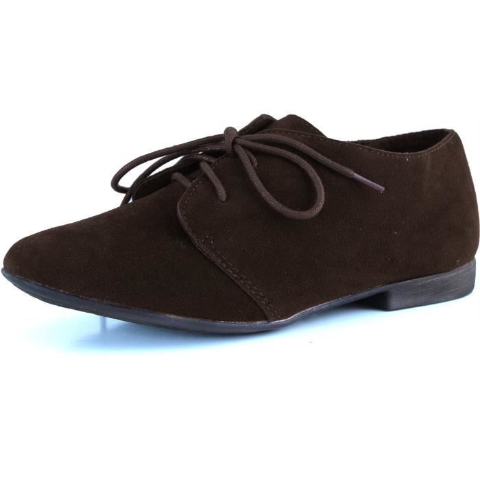 Ballet classique Lace Up plat Mocassins Chaussures Oxford Sneaker I3SUF Taille-40