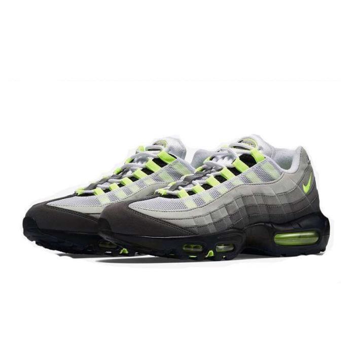 Baskets Nike Air Max 95 Homme Vert Chaussures Entraînement Noir Gris Vert Homme 9d3c13