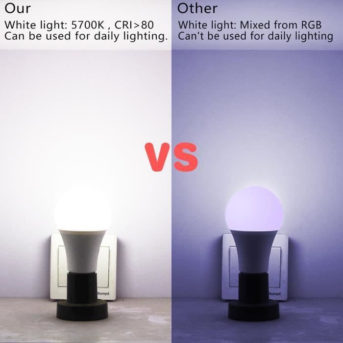Décoratives Lumières Ampoule D'éclairage Flash D'ambiance De Barre Led E27 Strobe Mode Lampe Ktv Rgbw 15w Fente 0wCapgBT8T