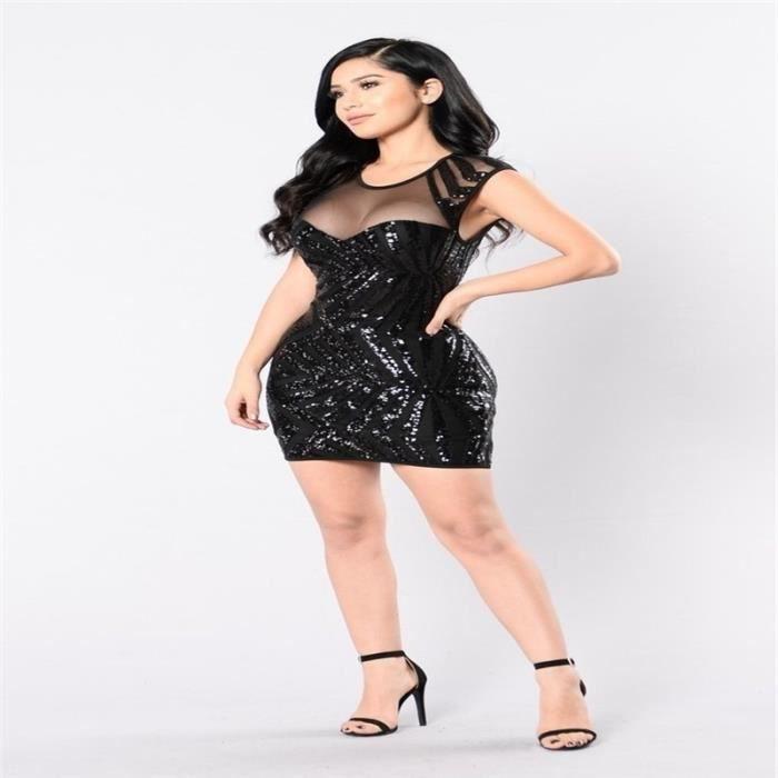 Mode XL dété nouvelles Stripes Les femmes Robes cou Décolleté O noir Sexy patchwork Mini maille RqtnZw
