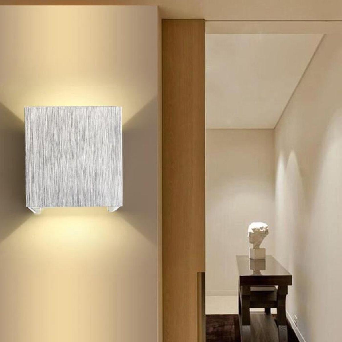 agptek applique murale 3w led lampe carrée murale pour chambre