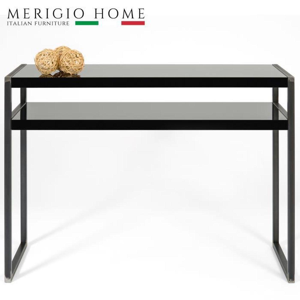 table console d 39 entr e noir bois noir brillant style. Black Bedroom Furniture Sets. Home Design Ideas