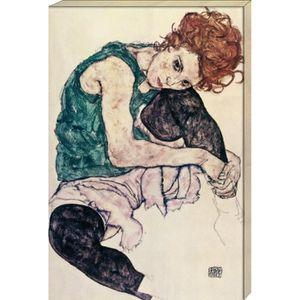 TABLEAU - TOILE Egon Schiele Poster Reproduction Sur Toile, Tendue