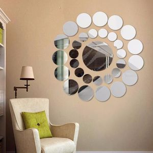 STICKERS 31 rond miroir Wall Sticker acrylique surface auto