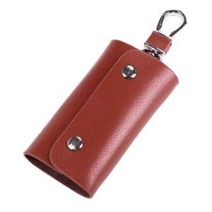 c654d639a3a6 PORTE-CLÉS Étui à clés en cuir porte-clés porte-monnaie porte