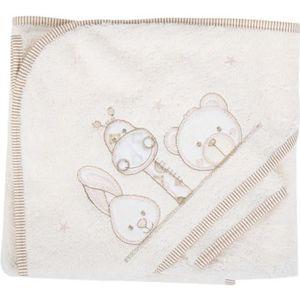 SORTIE DE BAIN Parure de bain girafe lapin et ours beige bébé
