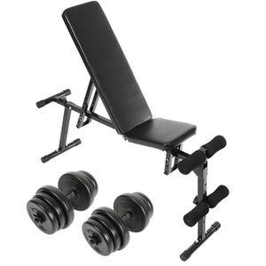 Banc De Musculation Multi Position Incluant Deux Barres Dhaltères