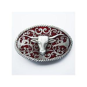 CEINTURE ET BOUCLE boucle de ceinture country tete de bison rouge wes 492392dec54