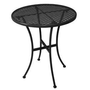 MANGE-DEBOUT Boléro Bistro Noir Acier Patterned Table ronde Noi