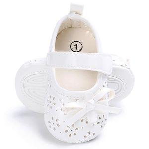 Frankmall®Bébé filles mignonnes chaussures de berceau princesse fleur Soft premarcher semelles anti-dérapantes ROSE#WQQ0926212 K9gUE