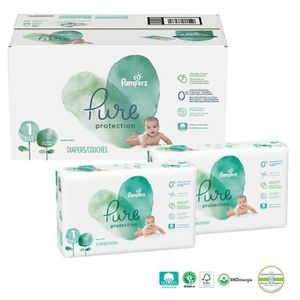 COUCHE 210 Couches Pampers Pure Protection taille 1