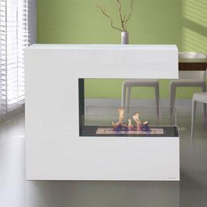 CHEMINÉE Niobe, cheminée de sol design de 100 cm de long et