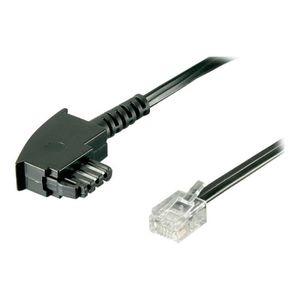CÂBLE RÉSEAU  goobay Câble de téléphone RJ-12 (P) pour TAE-F (P)