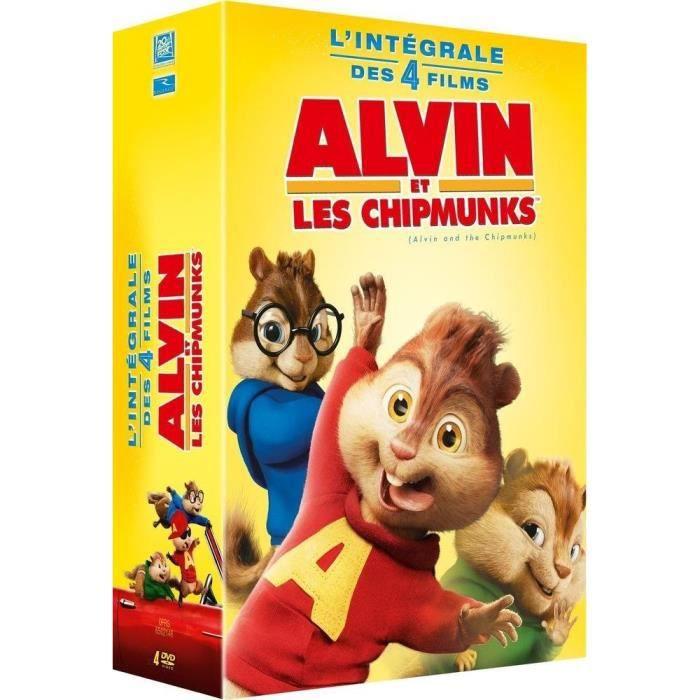 DVD Coffret Alvin Et Les Chipmunks 1 à 4 En Dvd Dessin