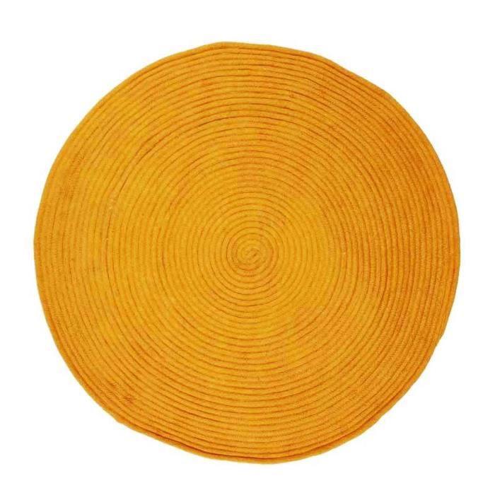 En coton - 120 cm - Or - Réversible et facile d'entretienTAPIS - DESSOUS DE TAPIS