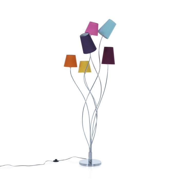 artifice lampadaire 6 lumi res en acier multicolore h160cm. Black Bedroom Furniture Sets. Home Design Ideas