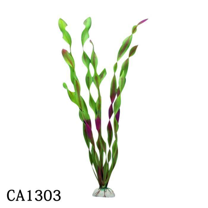 10pcs Aquarium Fish Tank Décoration En Plastique Vert Herbe Plantes Eau Multicolore_poi993