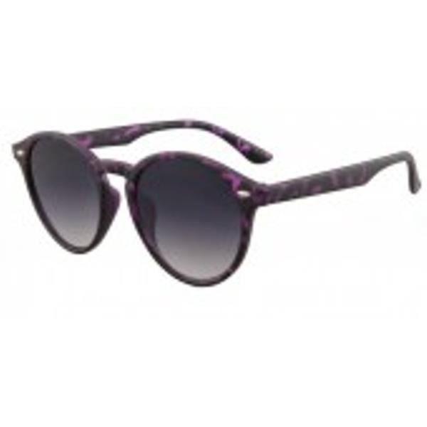 Lunettes de soleil avec cadre panthère pourpre et des lunettes noires.