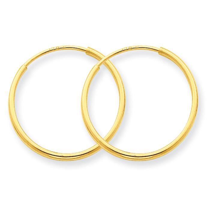 1,25 carats 14 mm-Boucles doreilles anneaux