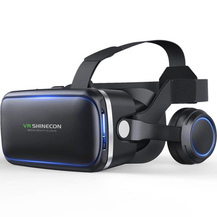Original VR Shinecon 6.0 3D Carton Casque de Réalité Virtuelle VR Lunettes  Casque Stéréo avec casque VR pour 4-6 «Mobile téléphone 9b77f3ecef91