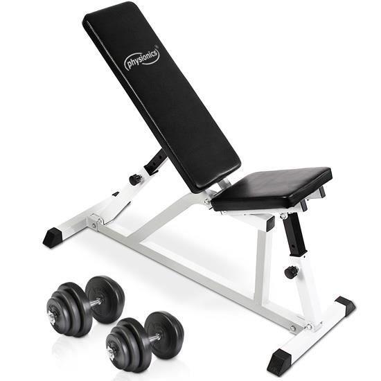 Banc De Musculation Multi Position Set Dhaltères De 40 Kg Sport